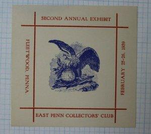 Fleetwood PA 1939 East Penn Collectors Club Annual Expo Philatelic Souvenir Ad