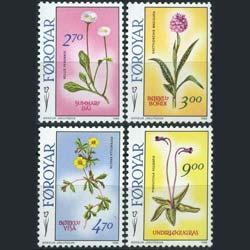 Faroe Islands MNH 169-72 Flowers 1988