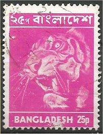 BANGLADESH, 1973, used 25p, Tiger Scott 47
