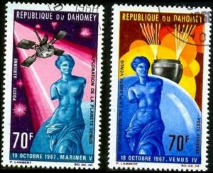 Explorations of Planet Venus 1967, Dahomey SC#C67-8 used set