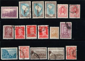 Argentina MiniLOT 20 Different Used