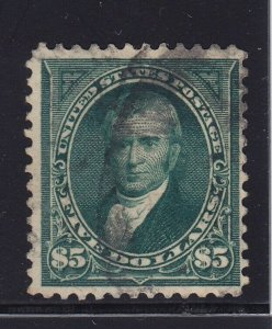 278 F-VF used neat cancel with nice rich color cv $ 650 ! see pic !