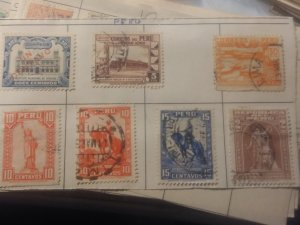 Peru group of 7 different all used