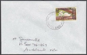 NORFOLK IS 1995 cover to New Zealand  - 60c Birds...........................A710