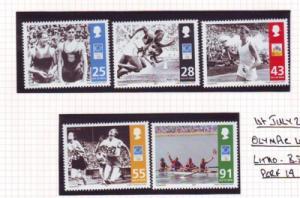 Isle of Man  Sc 1045-9 2004 Athens Olympics stamp set mint NH