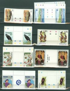 EDW1949SELL : VANATU Collection of ALL DIFF. MNH Gutter Pair Cplt sets. Cat $191