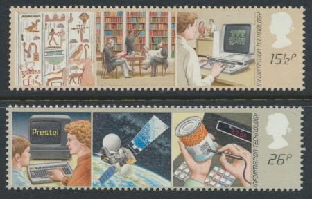 GB SG 1196 - 1197  SC# 1000-1001 Mint Never Hinged - Information Technology