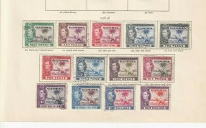 GAMBIA 1938 SET TO 4/- MINT /USED