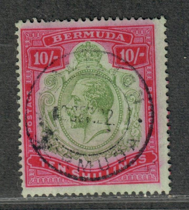 Bermuda Sc#53 Used/F-VF, Wmk #3, Cv. $425