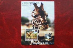 Mozambique 2002 MNH Fauna Animals Giraffe