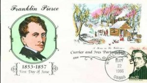 COLLINS HAND PAINTED 2217E President Franklin Pierce Currier and Ives Partners