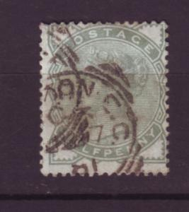 J19773 Jlstamps 1880-1 great britain used #78 queen