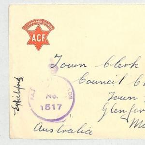 AUSTRALIA Cover Forces CENSOR ACF Queensland Division 1942 WW2 {samwells} GJ423