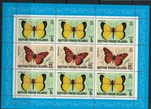 Virgin Is. #343a* NH  CV $4.50  Butterflies Souvenir sheet