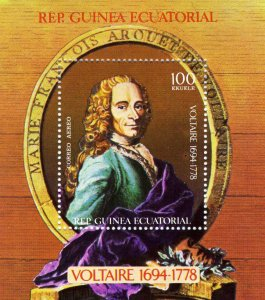 Equatorial Guinea 1979 Voltaire 1694/1778 s/s Perforated Mint (NH)