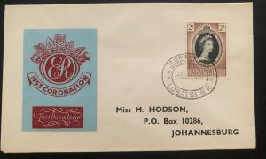 1953 Lobatsi Bechuanaland First Day Cover QE2 Queen Elizabeth coronation FDC B