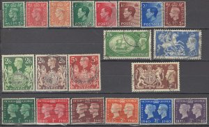COLLECTION LOT OF #1072 GREAT BRITAIN 20 STAMPS 1936+ CV+$38