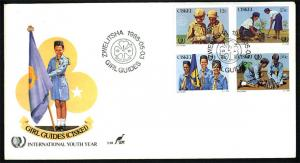 Ciskei– 1985 International Youth Year/ Girl Guides FDC