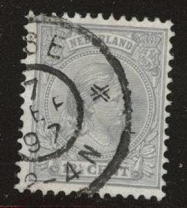 Netherlands Scott 44 used Princess Wilhelmina  1891-1894