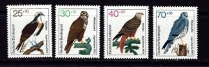 Germany B496-99 NH 1973 Birds set complete
