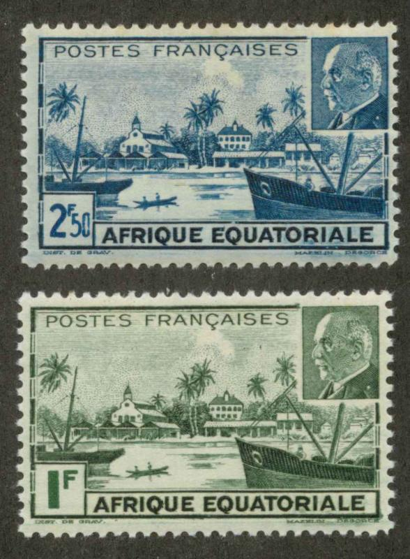 French Equatorial Africa 79A-79B Mint VF H (79B hr)