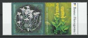 Bosnia and Herzegovina 2003 Flowers 2 MNH stamps
