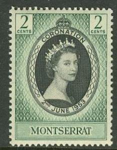 Montserrat # 127 QE II Coronation (1) Unused VLH