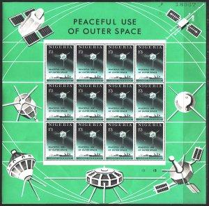 Nigeria. 1963. Small sheet 134-35. Space. MNH.