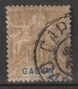 Gabon 1904 Sc 24 used Cap Lopez CDS