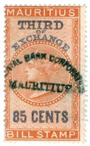 (I.B) Mauritius Revenue : Bill of Exchange 85c (Third)