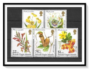 British Virgin Islands #401-405 Flowers Set MNH