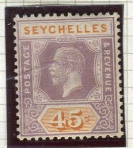 SEYCHELLES ; 1922 early GV issue fine Mint hinged Shade of 45c. value