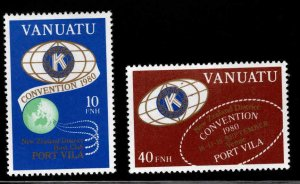 VANUATU Scott 295-296 MNH** Kiwanis set