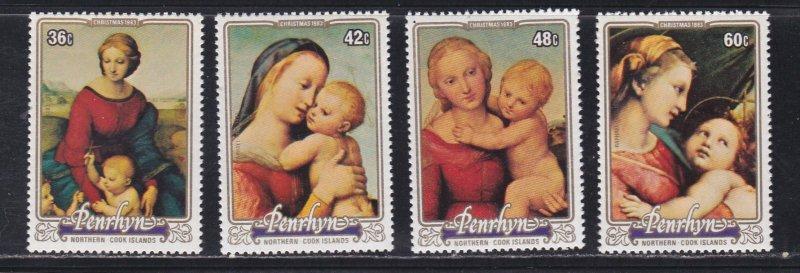Penrhyn # 260-263, Christmas - Raphael Paintings, NH, 1/2 Cat.