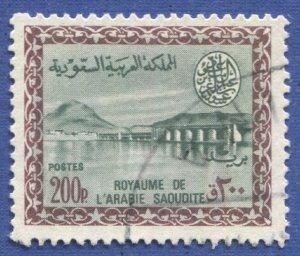 SAUDI ARABIA 1965 Scott 313 Used VF 200p Dam, Saud Cartouche, cv $80