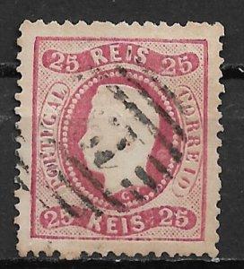 1867 Portugal #28  25r King Luiz used.