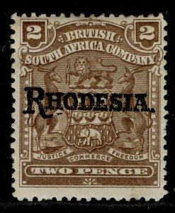 RHODESIA EDVII SG102, 2d brown, M MINT.