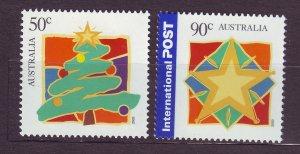 J23767 JLstamps 2003 australia set mnh #2183-4 christmas