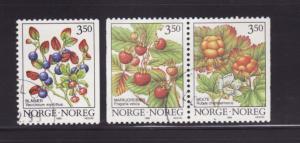 Norway 1087-1089 U Plants, Berries (A)