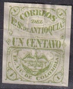 Colombia Antioquia #12 Unused CV $10.50 (A19859)