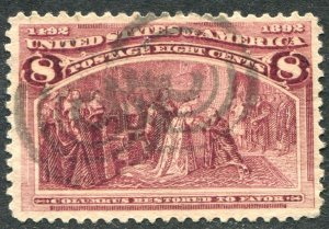 236 8c Columbian Exposition Used VF