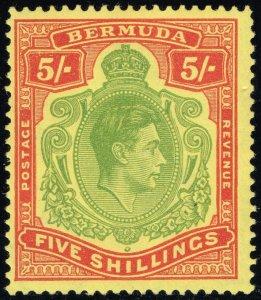 Bermuda #125 King George VI; Unused (2Stars)