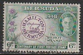 1949 Bermuda - Sc 137 - used VF - 1 singles - Postmasters Stamp