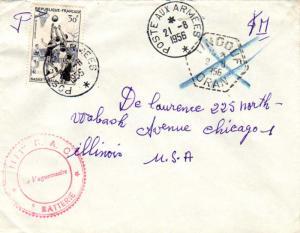 Algeria France 30F Basketball 1956 Poste Aux Armees Tindouf, Algeria Airmail ...
