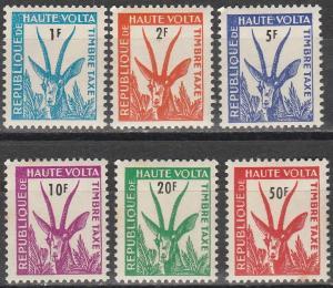 Burkina Faso #J21-6   MNH  CV $3.65  (K1799L)