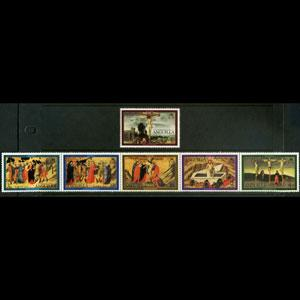 ANGUILLA 1977 - Scott# 291-6 Easter-Paintings Set of 6 NH