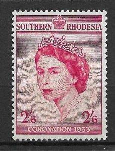 1953 Southern Rhodesia 80 Queen Elizabeth Coronation MH