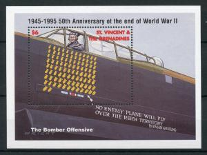 St Vincent & Grenadines 1995 MNH WWII WW2 VE Day 50th 1v S/S Aviation Stamps