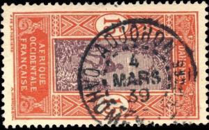 DAHOMEY - 1939 - CAD DOUBLE CERCLE ADJOHON / DAHOMEY ET DEPces SUR N°48