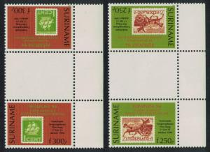 Suriname 'Fepapost 94' European Stamp Exhibition The Hague 2v Gutter Pairs